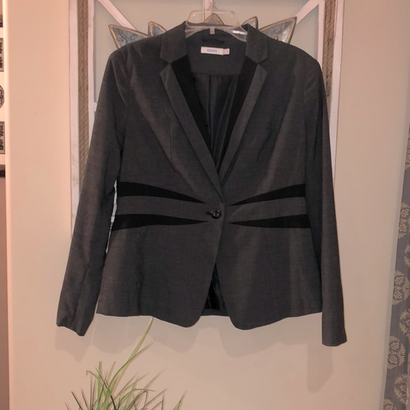 BOGO Rickis Gray and black lined blazer size 10